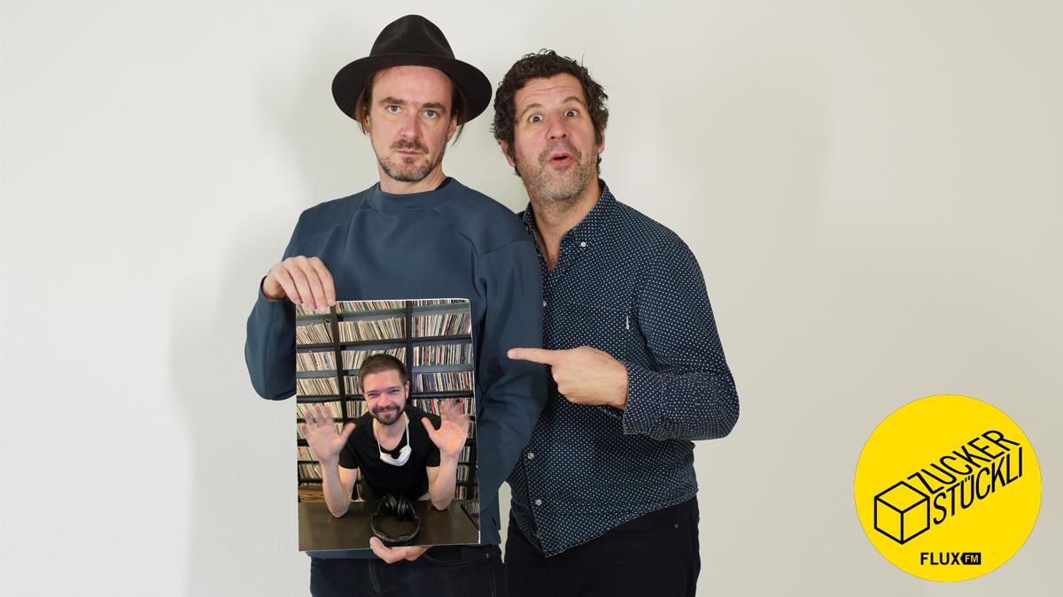 Winson mit Hut, Ueli mit Finger und Daniel Meinel am Bild (Foto: Sophie Euler)